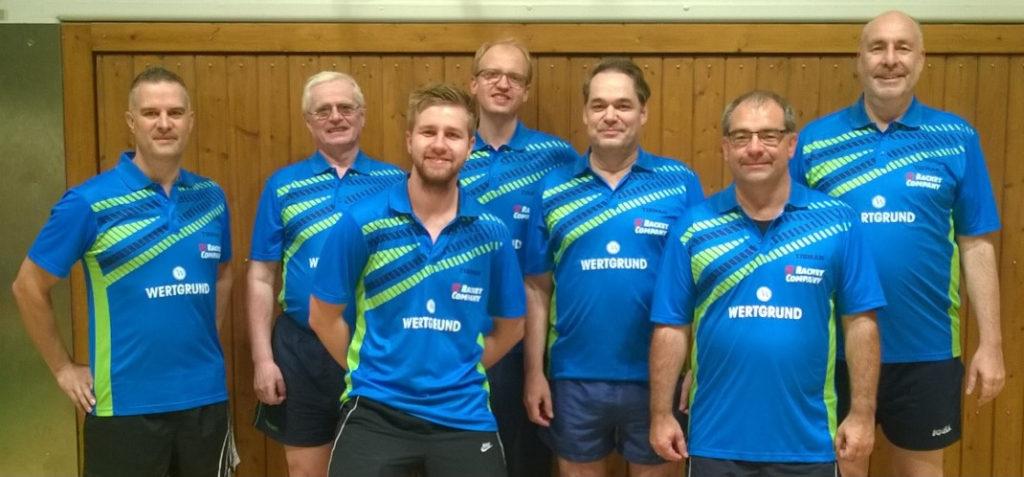 4. Mannschaft 2016/2017: (v.l.n.r: Markus Oslislok, Gerald Harriers, Philipp Ciemny, Andreas Tepel, Frank Krippeit, Thomas Lochner, Roland Volske)