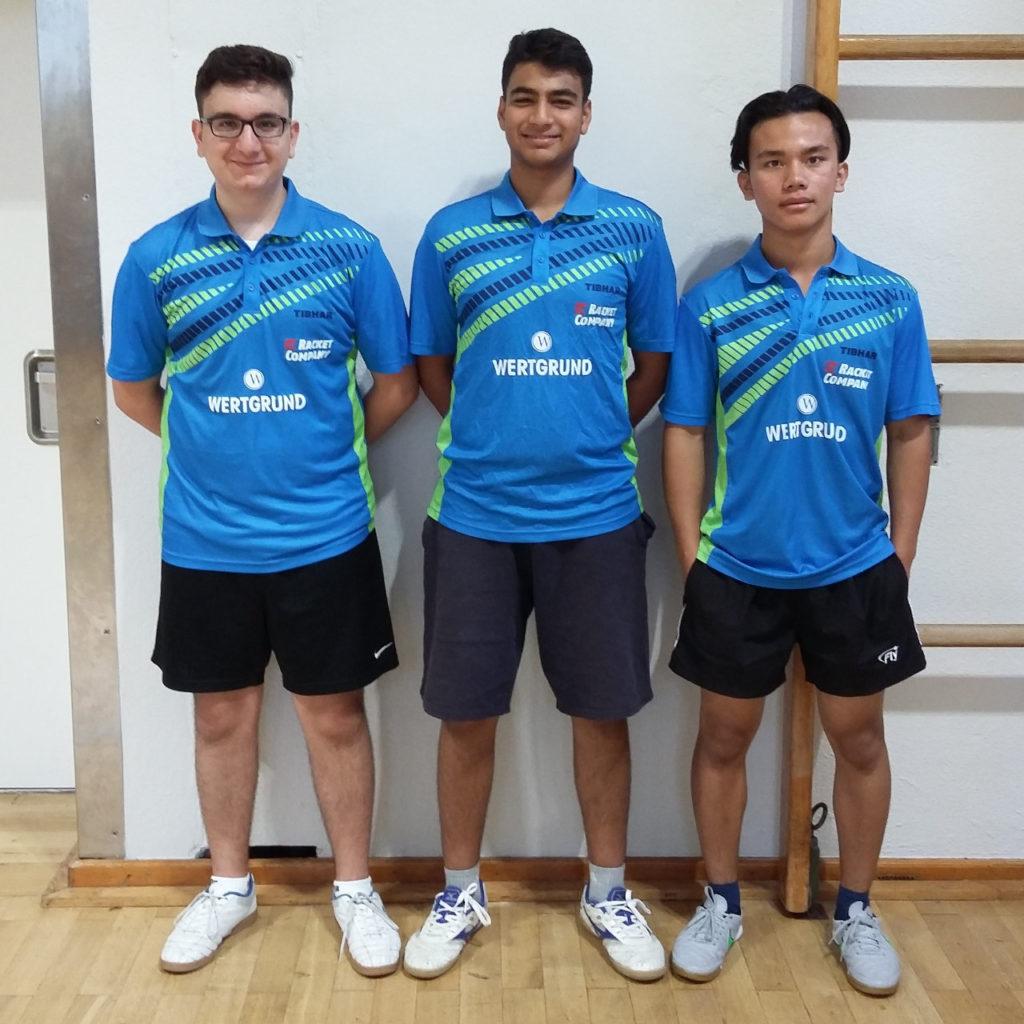 Männliche Jugend I 2016/2017: (v.l.n.r: Yunus Kaymakci, Sarim Hussain, Michael Kham Za Kam)
